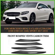 Carbon fiber Front Bumper Vents Fog Lamp Trim for Mercede Benz E Class C238 E300 E400 Sport only E43 AMG 17-18