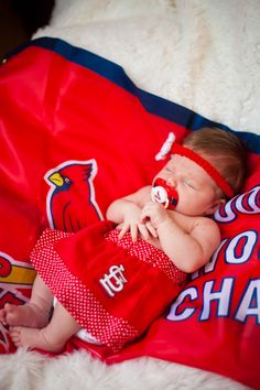 Newborn Photos St. Louis Cardinals baseball