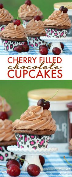 Cherry Filled Chocolate Cupcakes! Easy Holiday Dessert Recipe or Football Tailgating Treats!