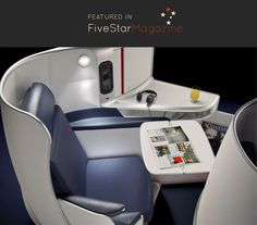 Read about Air France's new business class seats on Five Star Magazine. A private cocoon in the sky that adapts to the shape of each passenger!