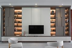 Gallery of House of the Second Narration / RDMA - 17 Tv Cabinet Design, Tv Wall Design, Apartment Interior, Interior Design Living Room, Living Room Decor, Living Room Tv Unit Designs, Regal Design, Modern Interior Design, House