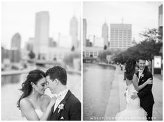 Gorgeous! Photos along the canal are a definite must. Photo by Molly Connor Photography. #Indianapolis #wedding #venue #IndianaStateMuseum