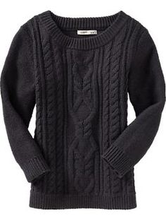 Old Navy Women's Cropped Cable-Knit Sweater. Carbon. Sz M. $22