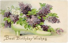 Shop flowers Vintage Birthday party blossoms petals Postcard created by Vintage_Gift_Destiny. Personalize it with photos & text or purchase as is! Happy Birthday Vintage, Vintage Birthday Parties, Birthday Cards Images, Birthday Postcards, Best Birthday Wishes, Birthday Wishes Cards, Birthday Greetings, Birthday Celebration, Art Vintage