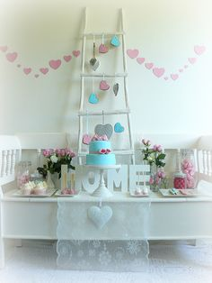Shabby Chic Valentine's Day Candy table