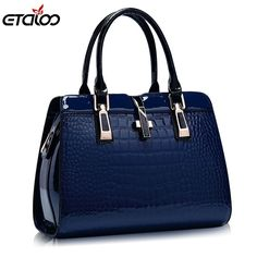 18.35$ Buy here - Europe women leather handbags PU handbag leather women bag patent handbag #buychinaproducts