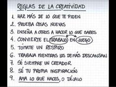 Escuelas Viatorianas Evangelizadoras . QUERBES  (EVE.Q): LA CREATIVIDAD EN NUEVE REGLAS