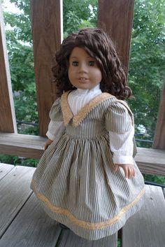 The Miniature Historian: Striped Civil War Dress by DollClothesbyEvie