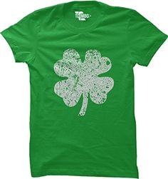 395d143d Amazon.com: Distressed Shamrock, Clover - St Patricks Day WOMENS T-shirt  (Small, BLACK): Clothing