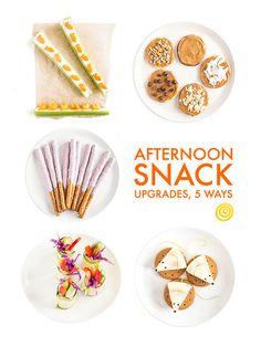 Afternoon Snack Upgrades, 5 Ways — Snack Hacks Diet Snacks, Easy Snacks, Healthy Snacks, Healthy Eating, Vegan Snacks, Healthy Recipes, Snack Hacks, Snack Recipes, Best Chicken Soup Recipe