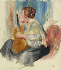 Woman with Guitar 1895 97 | Pierre Auguste Renoir | oil painting