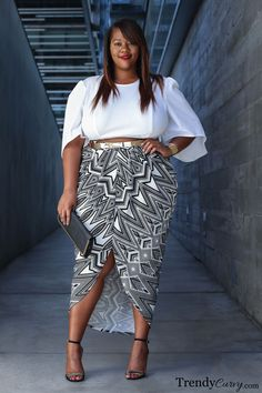 Spring and Summer seasons are all about the crop sets and despite some misconceptions, plus size girls CAN rock…