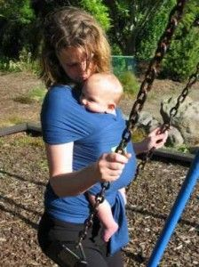 Exercises you Can Do with Baby in a Carrier - this could work with a moby or the ergo
