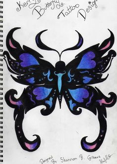 resumes templates with butterflies | Blue ButterFly Tattoo by