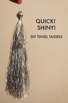 How to make tinsel tassels from Christmas tree icicles. | Mighty Girl