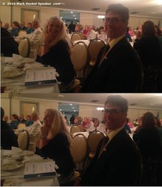 At the Banquet Awards Dinner with my mentor, Joe Grondin and his wife, Gwen, at the District 45 Toastmasters 2016 Spring Conference, May 20-22, 2016.  (You can see the 1st Place sheet in front of him for winning the International Speech contest for his 6th time.)