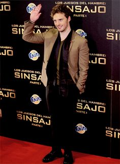 Sam Claflin at 'The Hunger Games: Mockingjay Part 1' in Madrid, Spain