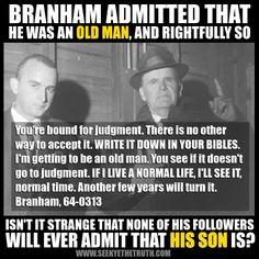 William Marrion Branham vs Old Man