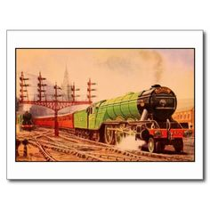 Shop Aquarelle vintage locomotive Flying Scotsman Poster created by aapshop. Personalize it with photos & text or purchase as is! Vintage Postcards, Vintage Photos, Flying Scotsman, Postcard Design, Custom Posters, Locomotive, Great Britain, Custom Framing, Vintage Antiques