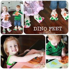 """""""My little 2 year olds LOVED the dinosaur themed box.  Right now they are really into dinos!  They ran around for half the day in their dinosaur feet they made!   The pictures I took say it all!"""" - The Crafting Chicks"""