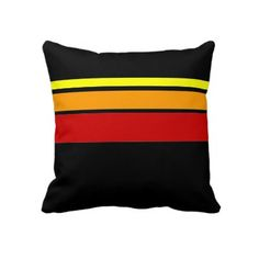 Red Yellow and Orange line pattern pillow #zazzle