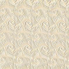 Swirl Embossed Metallic Paper - Ivory (single-sided)
