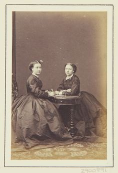 Princess Helena and Princess Louise, 1864 [in Portraits of Royal Children Vol.7 1863-1864] | Royal Collection Trust