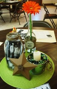 Table decs for 90th birthday party!