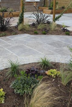 Tumbled Black Sandstone Paving has slightly softer edges and surface texture, giving it a unique aged appearance.