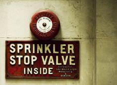 Sprinkler stop valve Sprinkler Valve, Fire Sprinkler, Vintage, Decor, Decoration, Vintage Comics, Decorating, Deco