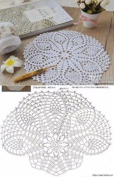 Crochet rug crochet carpet doily lace rug by eMDesignBoutique how to crochet shawl 1 This Pin was discovered by Moz Gorgeous Doesnt Look Like Patterns Crochet May The Miracle Oval Ma Rugs ndi crocheted: Maganizo a 25 + malingaliro opanga zinthu Free Crochet Doily Patterns, Crochet Doily Diagram, Crochet Circles, Crochet Motifs, Crochet Mandala, Crochet Chart, Thread Crochet, Crochet Designs, Crochet Flowers