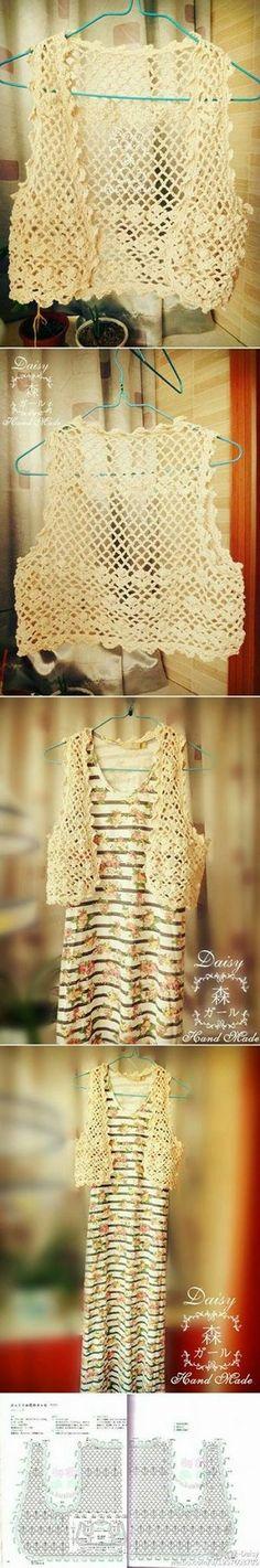 60 Ideas Crochet Jacket Women Shrug Pattern For 2019 Gilet Crochet, Crochet Coat, Crochet Shirt, Crochet Jacket, Crochet Cardigan, Crochet Clothes, Crochet Vests, Crochet Designs, Crochet Patterns