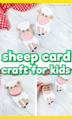 Animal Crafts For Kids, Summer Crafts For Kids, Crafts For Kids To Make, Kids Crafts, Bunny Crafts, Easter Crafts, Sheep Template, Farm Coloring Pages, Farm Animal Toys