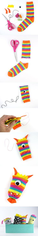 Juguetes reciclando calcetines / http://blog.landofnod.com/