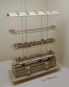 #model #architecture Wiebengahal Maastricht, the Netherlands Bierman Henket architecten | TIVK (https://nl.pinterest.com/tamaravankampen/)