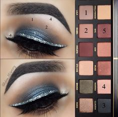 Eye Makeup Tips.Smokey Eye Makeup Tips - For a Catchy and Impressive Look Eye Makeup Steps, Simple Eye Makeup, Cute Makeup, Makeup Tips, Beauty Makeup, Makeup Ideas, Makeup By Mario Palette, Makeup Palette, Abh Palette