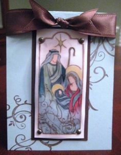 Stained Glass Christmas Card for hubby by ndelam - Cards and Paper Crafts at Splitcoaststampers