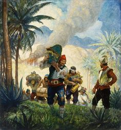 Conquest Of Paradise, Brandywine River, Golden Age Of Piracy, Nc Wyeth, Monkey Island, Pirate Art, Historical Art, Popular Culture, Art Google
