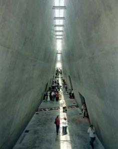 Holocaust History Museum, Jerusalem by Moshe Safdie. The feeling inside is breathtaking..