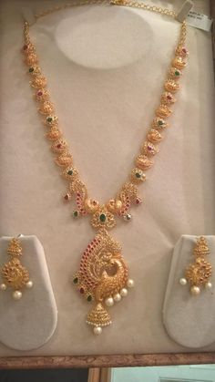 Uncut Diamond Long Chain latest jewelry designs - Page 26 of 58 - Indian Jewellery Designs Gold Earrings Designs, Gold Jewellery Design, Necklace Designs, Gold Haram Designs, Anklet Designs, Gold Designs, Vintage Jewellery, Antique Jewelry, Gold Jewelry Simple