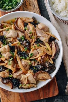 Steamed Chicken with Mushrooms & Dried Lily Flowers recipe by the Woks of Life Asian Recipes, Healthy Recipes, Ethnic Recipes, Chinese Tofu Recipes, Authentic Chinese Recipes, Confinement Food, Steamed Chicken, Steamed Food, Chicken Soup
