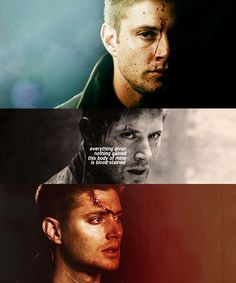 Dean Winchester: everything given nothing gained this body of mine is blood-stained #spn