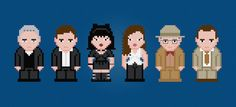 NCIS TV Characters - Digital PDF Cross Stitch Pattern    This is a digital PDF file of a cross stitch pattern. You will need to have a PDF