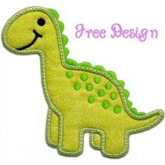 Free Applique Designs   FREE Darling Dino Applique