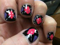 I love argyle and nail polish!  Perfect combo!