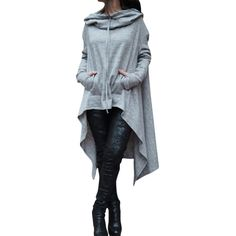 2017 Pullover Shirt Women Punk Rave Autumn Punk Personality Asymmetrical with Hooded. Gender: WomenItem Type: Hoodies,SweatshirtsSleeve Length(cm): FullStyle: FashionCollar: O-NeckWeight: 0.85kgType: PulloversFabric Type: BroadclothMaterial: Polyester,Spandex,CottonSleeve Style: RegularPattern Type: SolidHooded: YesClothing Length: LongBrand Name: YSMARKETModel Number: KF5315 Autumn And Spring 5 Color Casual Hooded Long Sleeve Tops