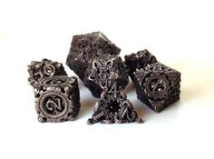 Steampunk Polyhedral Dice Set 3d printed 85