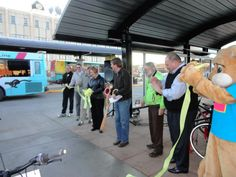 The cutting of the ribbon!