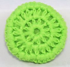 How do you crochet a scrubbie from tulle?