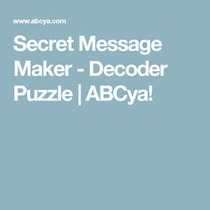 The ABCya Secret Message Maker is a fun way to create, share and solve secret messages! Breakout Edu, Breakout Game, Breakout Boxes, Math 5, Math Games, Escape The Classroom, Classroom Ideas, Escape Box, Instructional Coaching